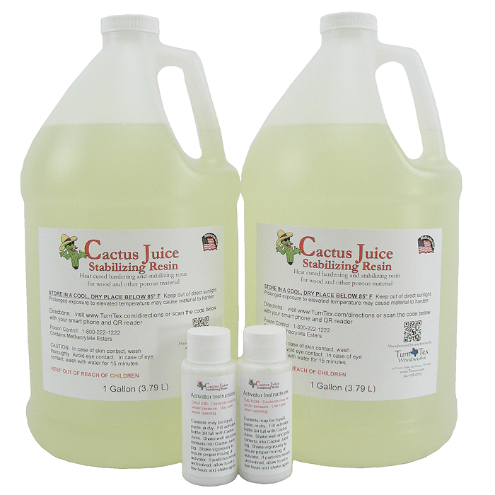 cactus juice stabilizing resin chambers and accessories